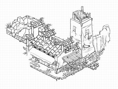工程图 简笔画 平面图 手绘 线稿 450_338