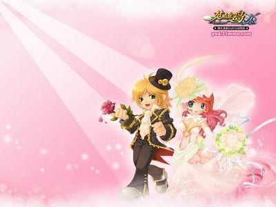 动青春告别单身 英雄岛单身季壁纸大放送  公主终于答应了王子的求婚